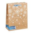 Пакет крафтовый вертикальный «Волшебные снежинки», 23 × 27 × 8 см
