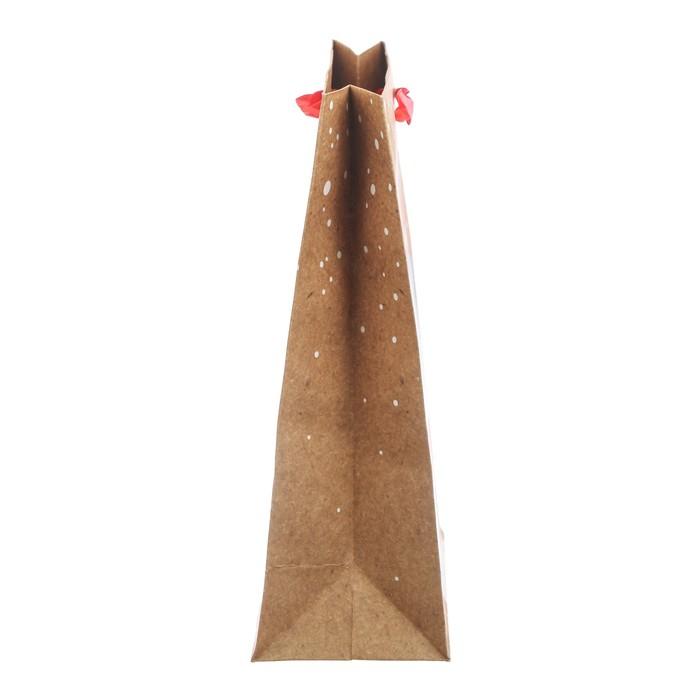 Пакет крафтовый вертикальный «Сказочный единорог», 23 × 27 × 8 см