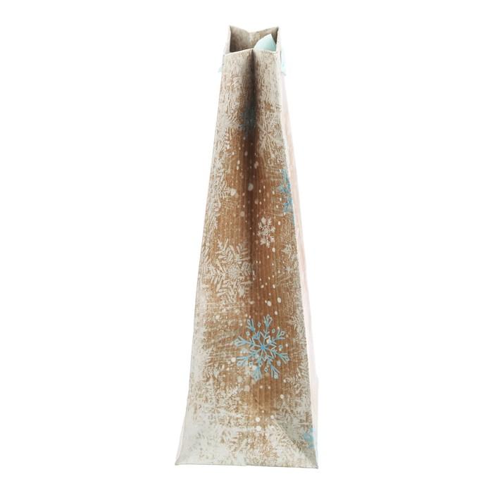 Пакет крафтовый вертикальный «Снежная зима», 23 × 27 × 8 см