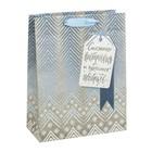 Пакет крафтовый вертикальный «Чудесные подарки», 18 × 23 × 8 см