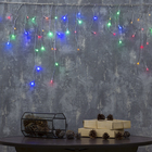 """Гирлянда """"Бахрома"""", 1.8 х 0.5 м, LED-48-220V, 8 режимов, нить прозрачная, свечение мульти"""