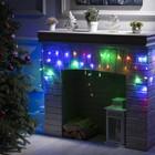 """Гирлянда """"Бахрома"""", 3 х 0.5 м, LED-80-220V, 8 режимов, нить прозрачная, свечение мульти"""