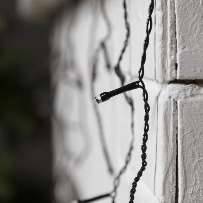 БАХРОМА, Ш:3 м, В:0.5 м, Н.Т. LED-80-220V, 8 режимов, БЕЛЫЙ