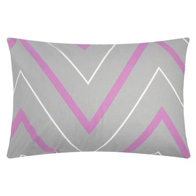"Pillow case ""Ethel"" lilac-gray zigzags 50x70"