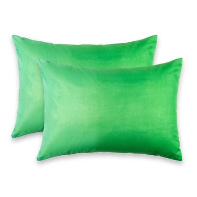 """Комплект наволочек  """"Этель"""" Пиксели (зелёный) 50*70 см - 2 шт.,новосатин, 90%хлопок,10% п/э   359857"""