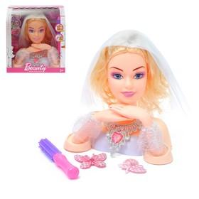 Кукла-манекен для создания причёсок 'Невеста' с аксессуарами Ош