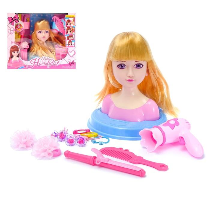 "Кукла-манекен для создания причёсок ""Салон красоты"" с аксессуарами"
