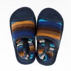 Тапочки детские Forio арт. 126-6575 А, цвет сине-чёрный, размер 30