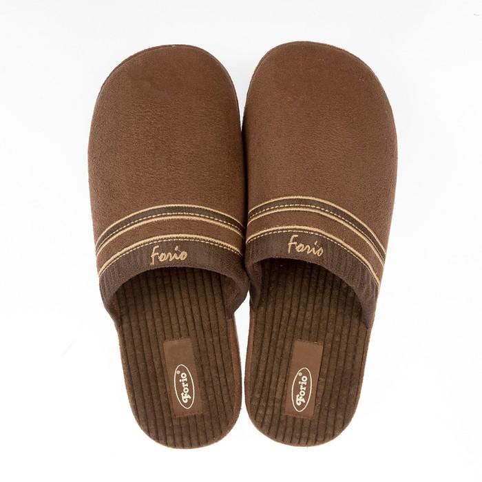 Тапочки мужские Forio арт. 134-7001, цвет коричневый, размер 41