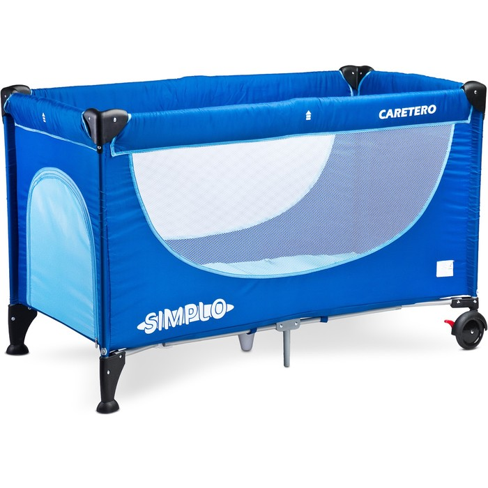 Манеж-кровать SIMPLO BLUE, синий
