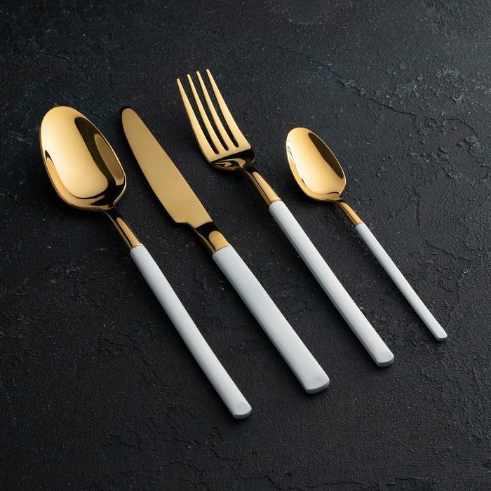 Набор столовых приборов Magistro «Версаль», 4 предмета, цвет белый - фото 489861