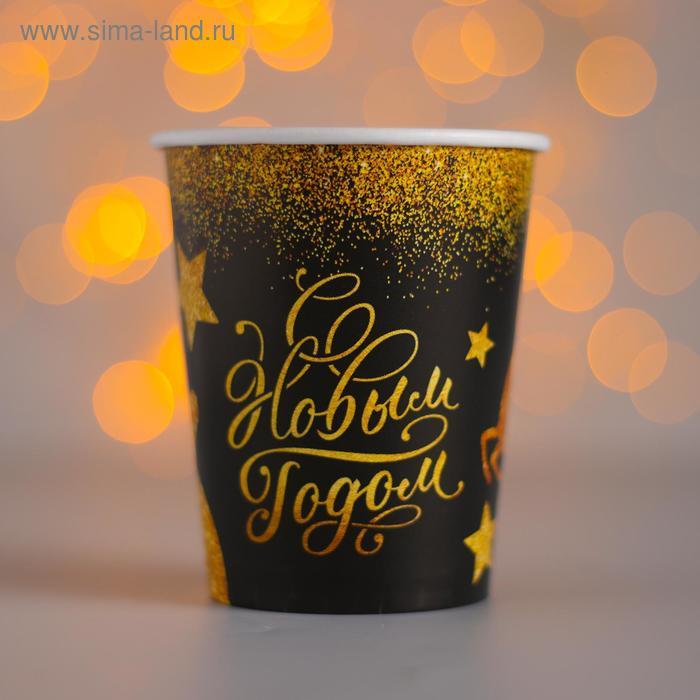 """Glass paper """"happy New year"""", Golden deer, 250 ml"""