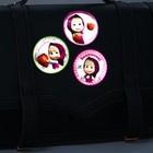"""Набор наклеек светоотражающих 4 шт.  Маша и Медведь, """"Маша с клубникой"""""""