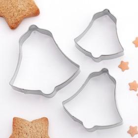 {{photo.Alt || photo.Description || 'Набор форм для вырезания печенья Доляна «Колокольчик», 6×6 см, 3 шт'}}