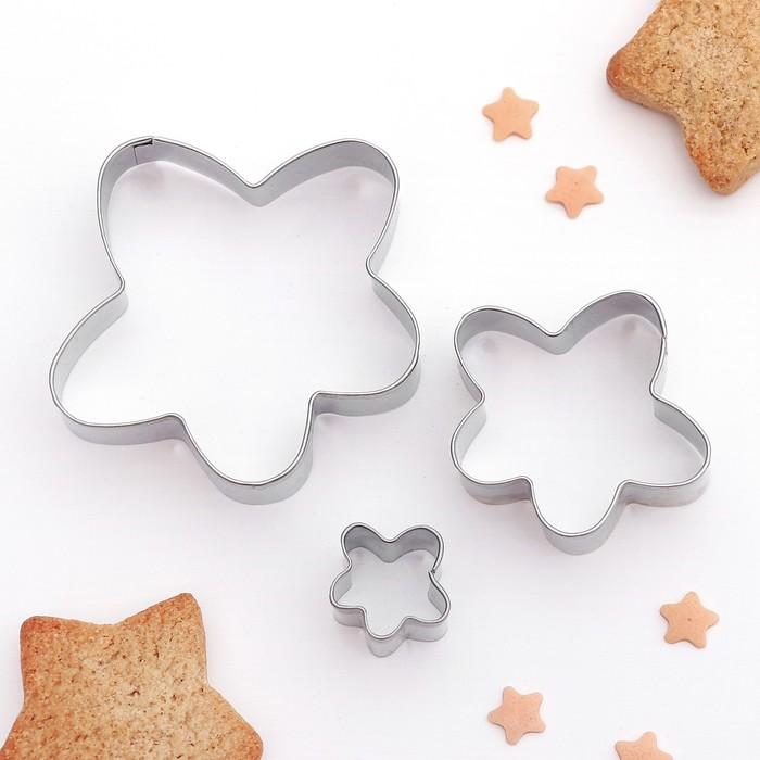 """Набор форм для вырезания печенья """"Ромашка"""", 3 шт - фото 224075161"""