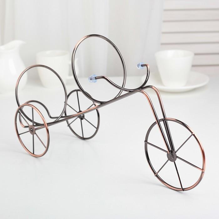 "Подставка для бутылки ""Велосипед"" 32х10,5х19 см, цвет коричневый"
