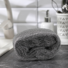 Губка для мытья посуды в рулоне, металлическая