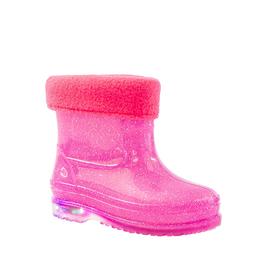Сапоги детские со светодиодами MINAKU розовый р. 28