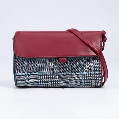 Bag, Department, zipper, adjustable strap, color Burgundy