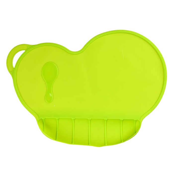 Коврик силиконовый для кормления, антискользящий, цвет зелёный