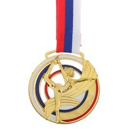 Медаль тематическая «Гимнастика», золото, d=6 см