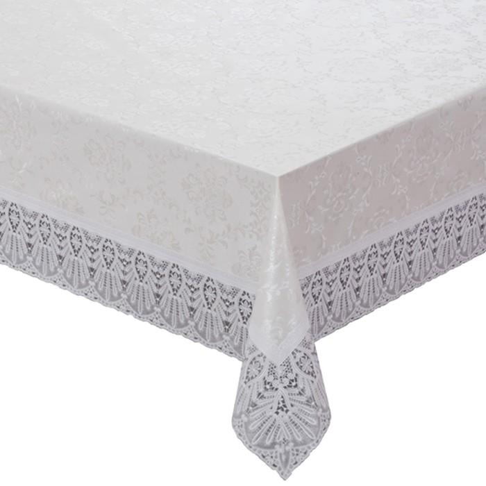 Готовая скатерть Meiwa, прямоугольная, 132 х 178 см, цвет белый