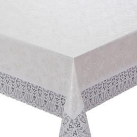 Готовая скатерть Meiwa, прямоугольная, 152 х 320 см, цвет белый