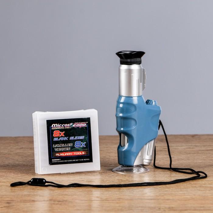 """Микроскоп ручной """"Биолог"""" х20-60, с подсветкой"""