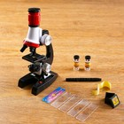 "Microscope ""School"" 100x-400x-1200x, tweezers, 2 bottles, stickers, 5 glasses"
