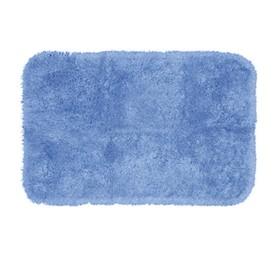 Коврик для ванной комнаты, 60х102 см, Plush, синий