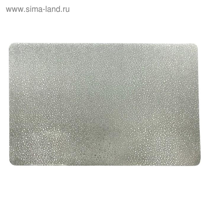 Салфетка Капли серебро, 30х40 см