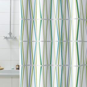 Штора для ванной комнаты Bambu, 180 х 200 см, зелёная