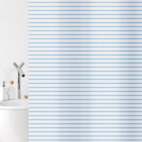 Штора для ванной комнаты Verga, 180 х 200 см, синяя