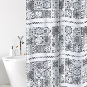 Штора для ванной комнаты Cementine, 180 х 200 см, ПВХ, серая