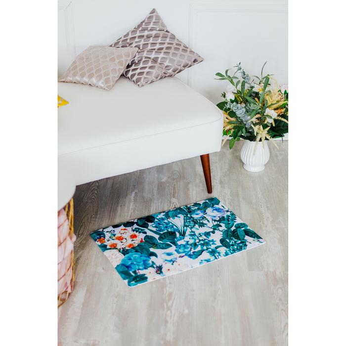 Коврик «Цветочный», 40×60 см