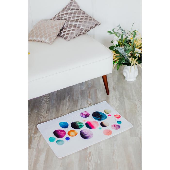 Коврик «Акварель круги», 40×60 см