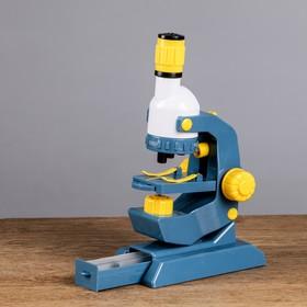 Микроскоп «Наука», увеличение х100, 400, 1200, линзы, 8 стёкол Ош