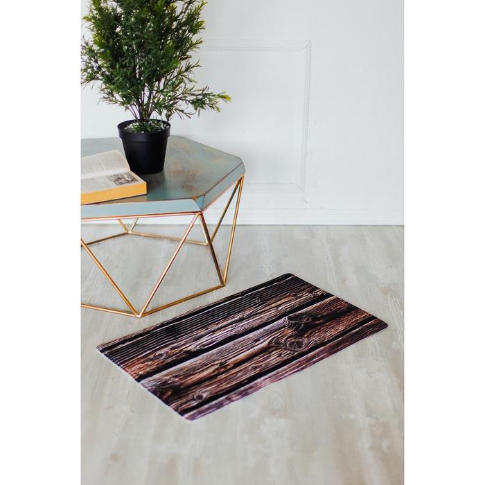 Коврик «Деревянная доска», 45×75 см