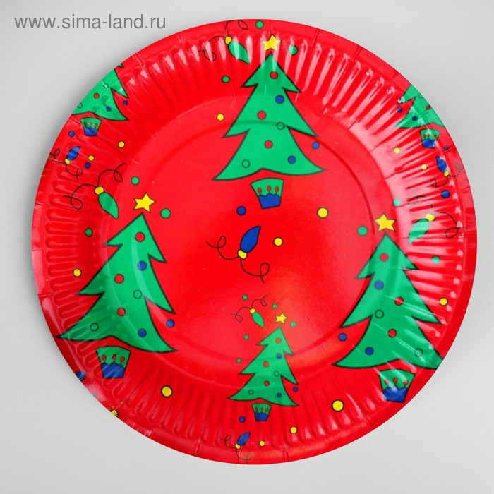 "Paper plate ""Christmas tree"" (set of 6 PCs)"