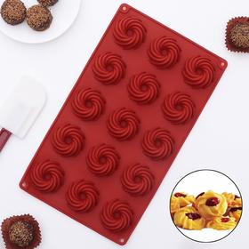 Форма для льда и шоколада «Зефир», 28,5×16,5×2 см,15 ячеек (4×2 см)