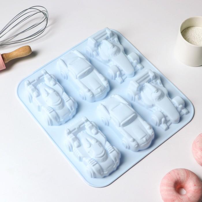 Форма для выпечки Доляна «Гонки», 29,5×27 см, 6 ячеек (11,5×6,5 см), цвет МИКС