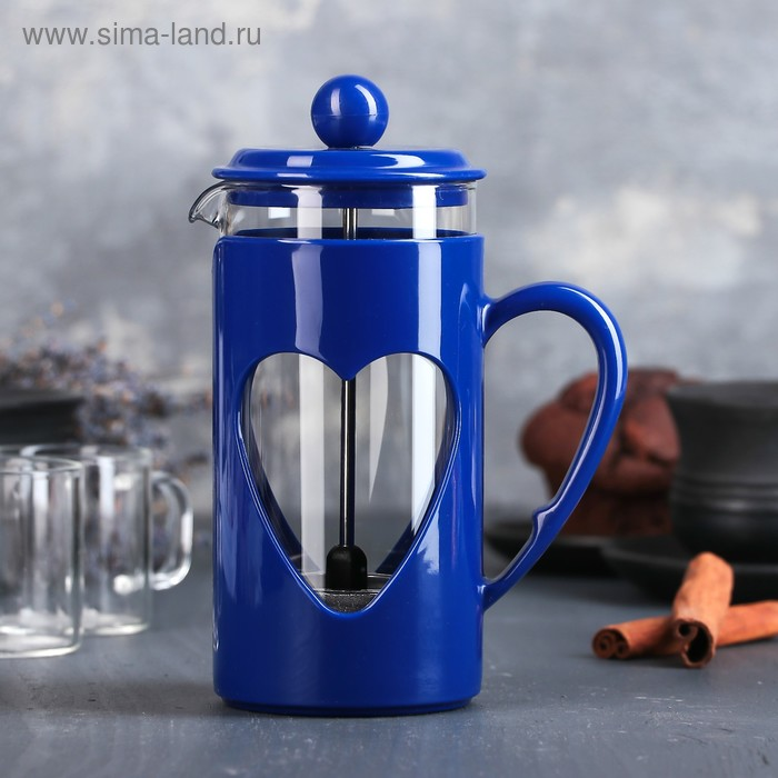 """French press 350 ml """"Compliment"""", color blue"""