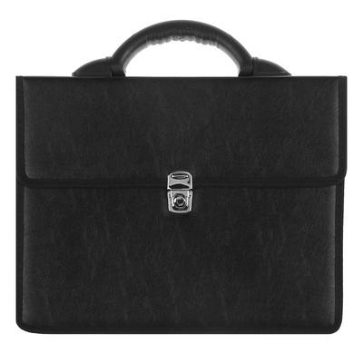 Портфель деловой «Вырица», 380 х 290 мм, искусственная кожа, чёрный