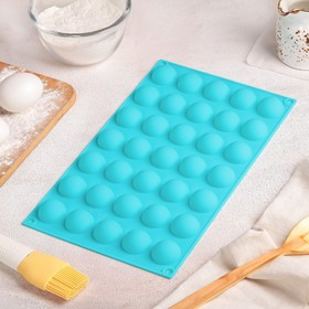 """Form for baking and mousse desserts 30 x 17.5 cm """"Balls"""", 35 cells"""