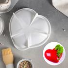 """Форма для муссовых десертов и выпечки 17,5×4,7 см """"Сердце малое"""", цвет белый"""