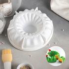 """Форма для муссовых десертов и выпечки 19×5,5 см """"Сладкая фантазия"""", цвет белый"""