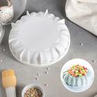 """Форма для муссовых десертов и выпечки 19×4,6 см """"Грация"""", цвет белый"""