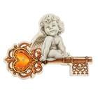 """Ключница деревянная """"Ангел с ключом"""""""