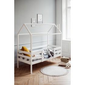 Кровать-домик №3, цвет белый, спальное место 70 x 160 см