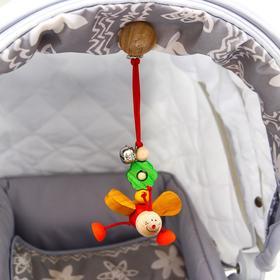 Подвеска для коляски «Бабочки» красная S-Mala